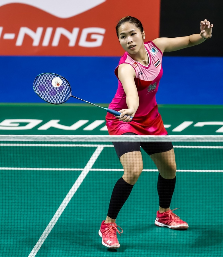 Thailand's Ratchanok Intanon in action. © BWF