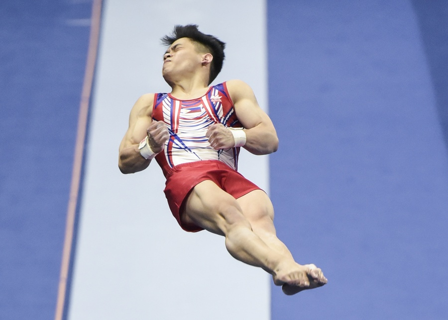 Carlos Yulo is a gold medal hope in men's gymnastics at Tokyo 2020. © INQUIRER/Sherwin Vardeleon