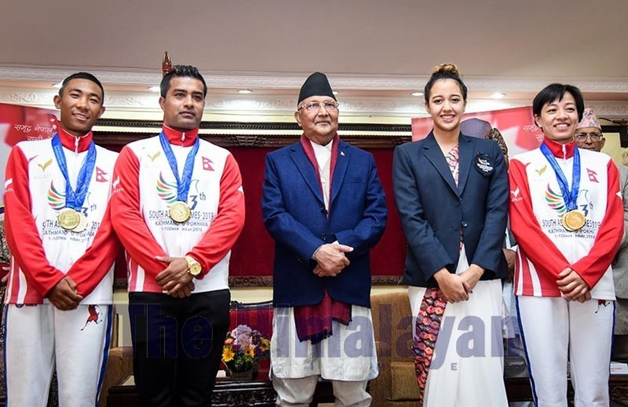 Nepal medal winners at South Asian Games in the money