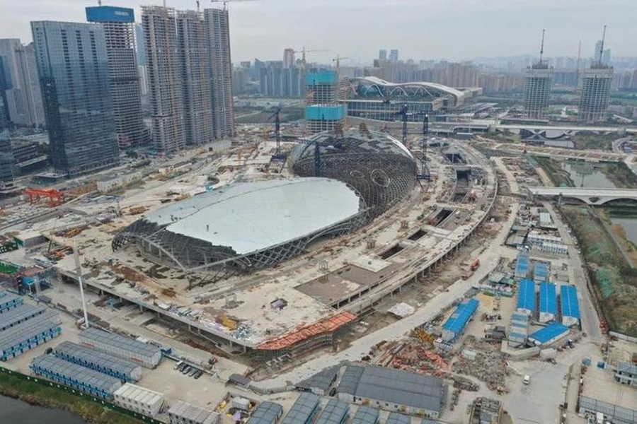 Construction work resumes on 19th Asian Games venues in Hangzhou
