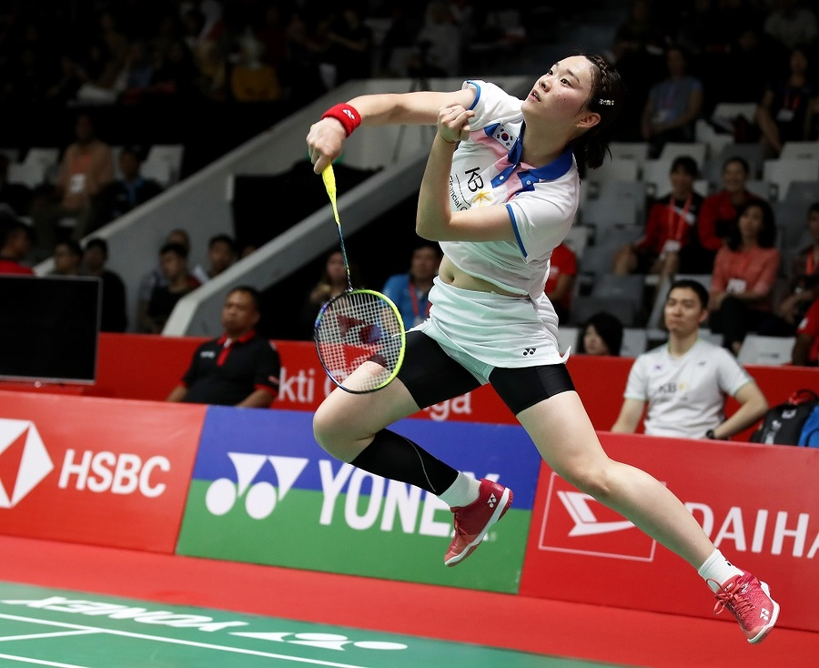 Kim Ga Eun of Korea won the women's singles title at the Lingshui China Masters in Hainan in 2019. This year's event has been postponed to May at the earliest. © BWF