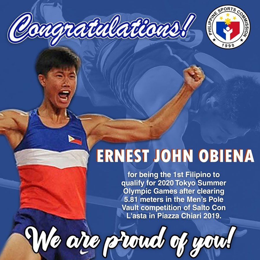 Philippines' Obiena books ticket to Tokyo
