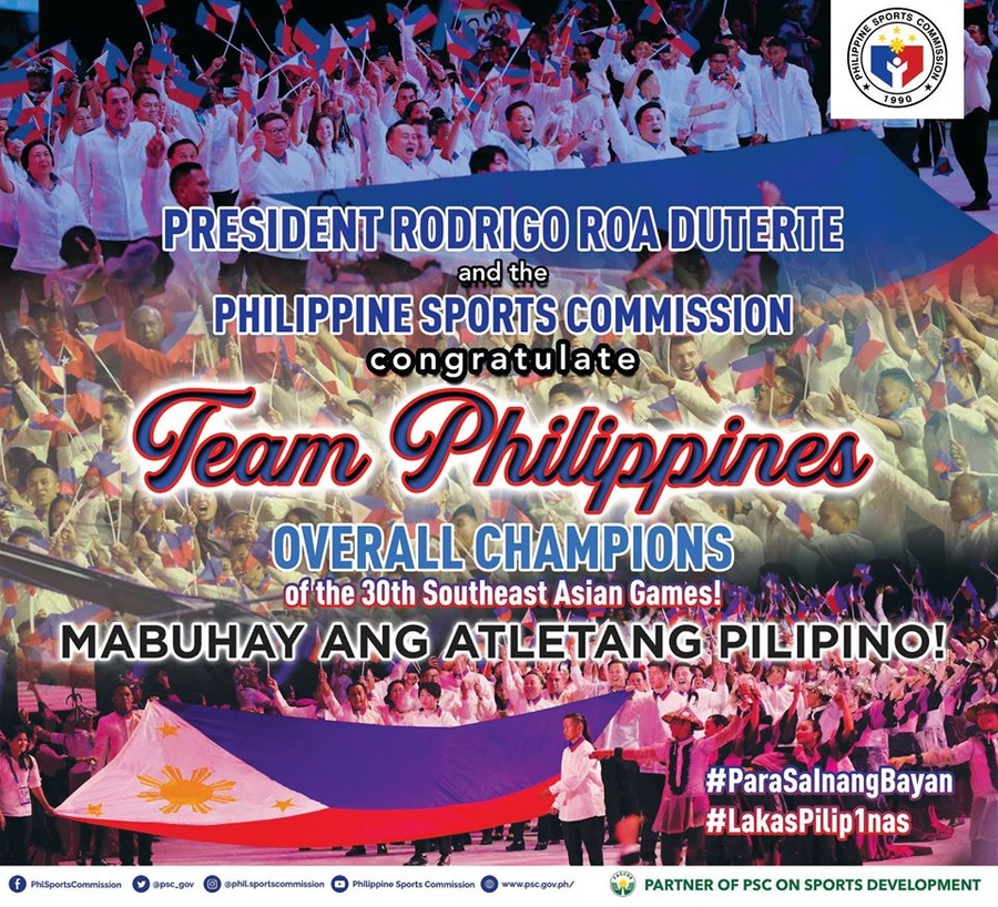 "Philippines ""win as one"" as SEA Games hosts"