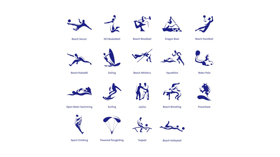 Sanya 2020 issues sport pictograms, posters