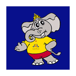 <p>The official Mascot of the 13th Asian Games is an elephant. The elephant is a very distinctive animal which has lived with the people of Thailand for many generations and is universally admired for its strengths and nobility.<br /><br />The mascot's name Chai-Yo (a Thai word meaning pleasure, gladness, success, unity and happiness) is usually shouted by a group of people to show their unity and solidarity.</p>