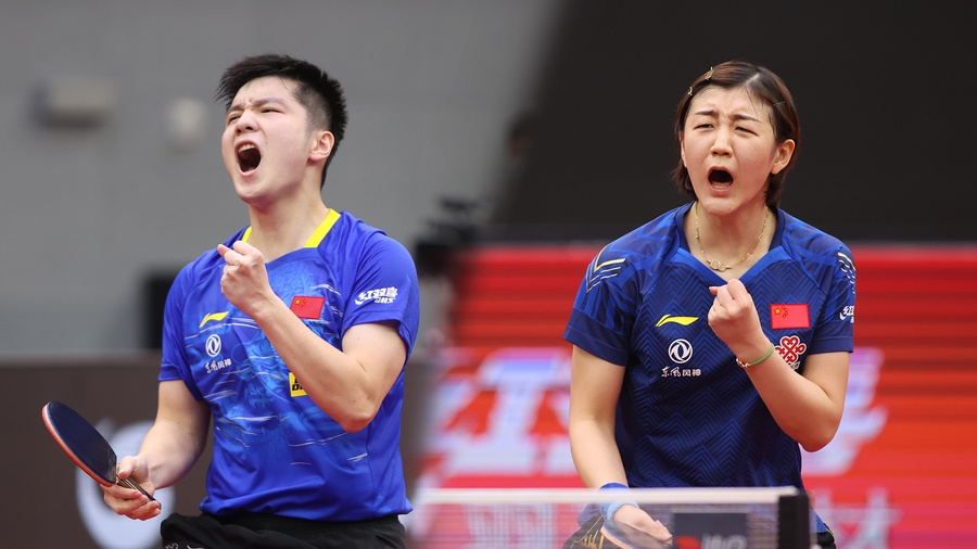 Fan Zhendong (CHN) and Chen Meng (CHN) start off the year at the top. © ITTF