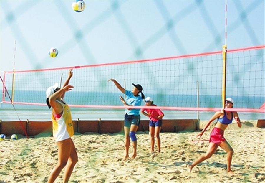 Beach sports boom in Sanya ahead of 6th ABG