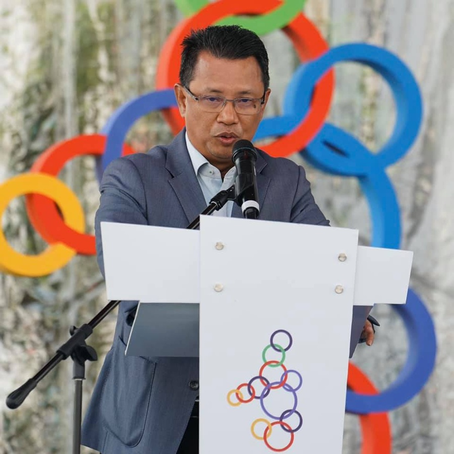 The President of the Olympic Council of Malaysia, Dato' Sri Mohamad Norza Zakaria. © Facebook