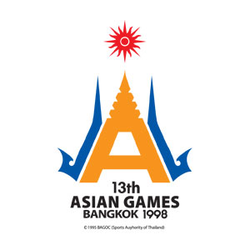 <p>The Official Emblem of the 13th Asian Games elements from Asia in general and Thailand in particular. It is based on the letter A, representing Asia and Athletes. The Maha Chedi, or pagoda shape, represents Thailand, in particular.<br /><br />The pinnacle of the Maha Chedi symbolises the knowledge, intelligence and athletic prowess of Thailand's forefathers, which are second to none. The top is part of the OCA logo.</p>