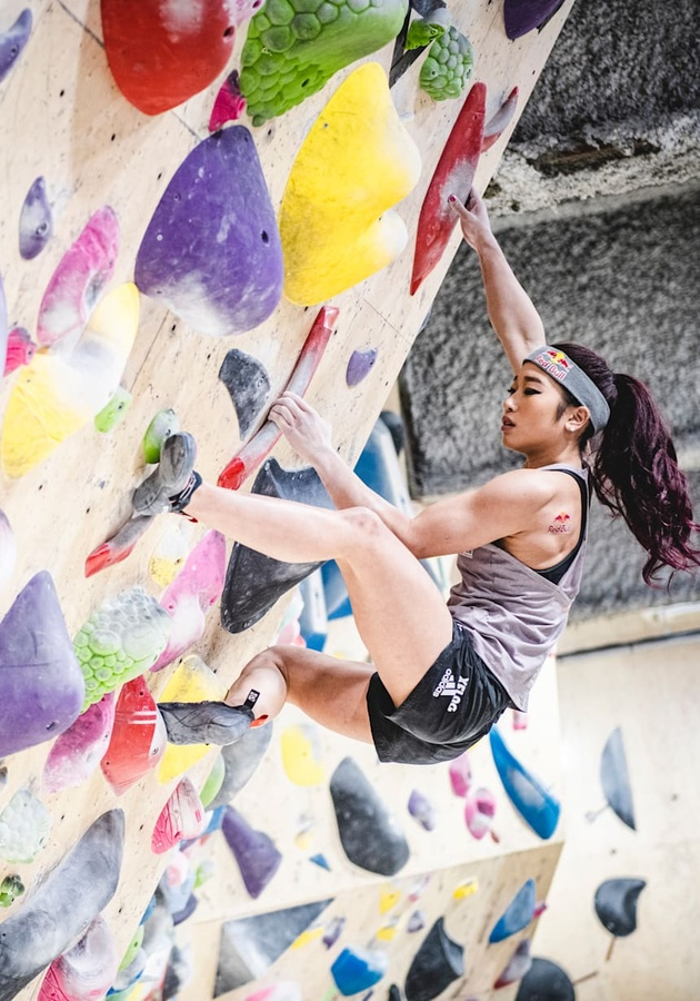 Japan's ANOC World Beach Games sport climbing champion Miho Nonaka has qualified for Tokyo 2020. © Red Bull