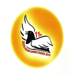 <p>The oficial logo of the 2010 South Asian Games; it represents the magpie robin, the National Bird of Bangladesh.</p>