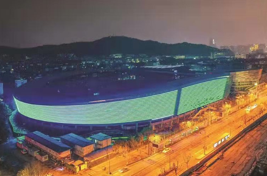 The main stadium of the Xiaoshan District Sports Centre. ©19th Asian Games Hangzhou 2022 Facebook