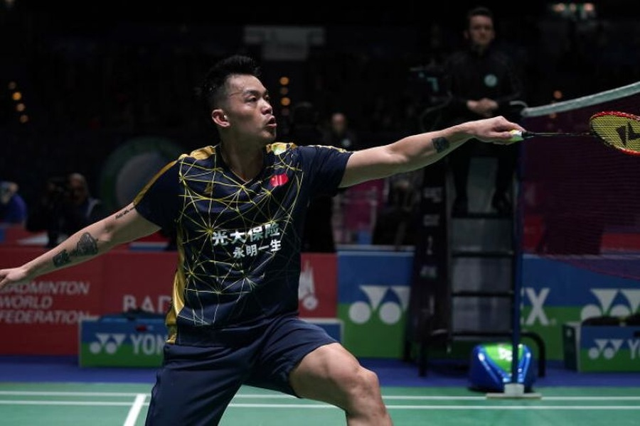 China's Lin Dan in action at the YONEX All England Open in Birmingham, England, on Wednesday, March 11, 2020. © EPA-EFE