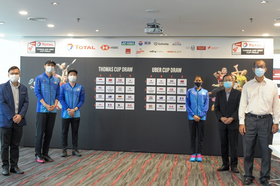 Draw takes place for women's and men's badminton team finals