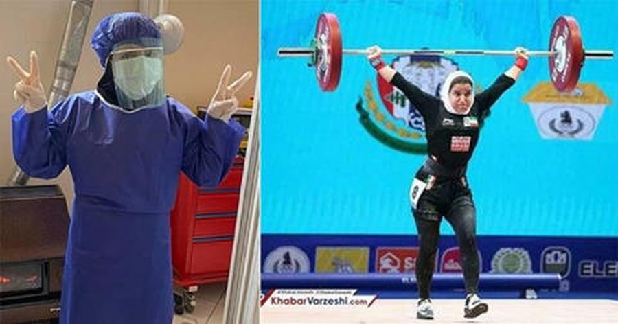 Iranian athlete lifting spirits in fight against COVID-19