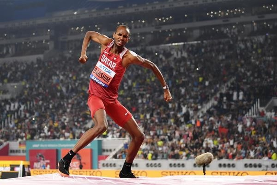 Qatar's Barshim wins high jump gold at IAAF World Champs